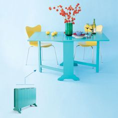 Drop-Leaf Dinette | 10 Smart Space-Saving Tables | Photos | Small Space Solutions | Remodels & Upgrades | This Old House