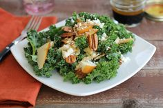 Kale Salad with Roasted Pecans | Tasty Kitchen: A Happy Recipe Community!