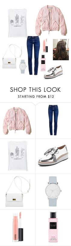 """""""Untitled #249"""" by lalittaaristha ❤ liked on Polyvore featuring Hollister Co., AG Adriano Goldschmied, Pull&Bear, Loeffler Randall, Chanel, A.X.N.Y., MAC Cosmetics and Victoria's Secret"""