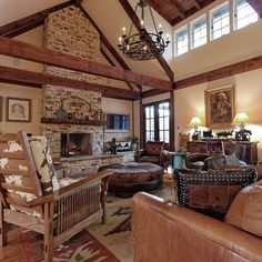 love the high windows, the beams and the openness...