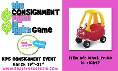 Contest for Consignors: The Consignment Price is Right!