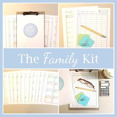 The FAMILY KIT printable planner planner pages family Family Schedule, Family Planner, Weekly Meal Planner, Menu Planner Printable, Printable Chore Chart, Printables, Arc Planner, Planner Pages, Binder Planner
