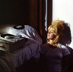 Additional photos of famous and not-so-famous women spinning vinyl --including Brigitte Bardot, Bobbie Gentry and others -- Bridget Bardot, Brigitte Bardot, Indie, Sexy Bikini, 70s Aesthetic, Look Dark, Looks Cool, Vintage Beauty, Vintage Soul