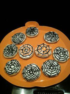 Halloween Treats... Spiderweb Cookies