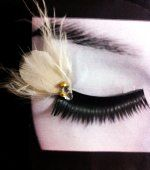Designer Clothes, Shoes & Bags for Women Feather Eyelashes, False Eyelashes, Bridal Makeup, Jewelery, Pearl Earrings, Prom, Bridesmaids, My Style, Unique Products