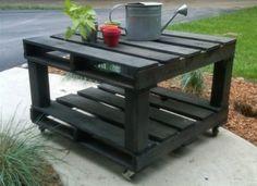 Petite table de jardin amovible