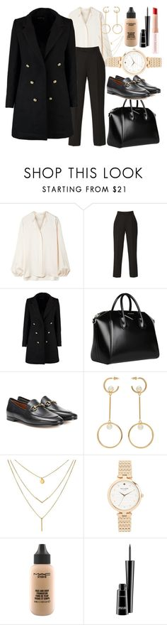 """work wear / interview"" by nothing-better-than-a-riddle ❤ liked on Polyvore featuring The Row, Elie Saab, Boohoo, Givenchy, Gucci, Chloé, Kate Spade, MAC Cosmetics and Puma"