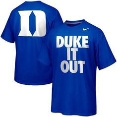 Nike Duke Blue Devils Basketball Duke It Out Campus Roar T-Shirt -Duke Blue