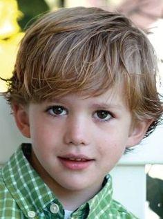 .And a cute haircut for a little boy!