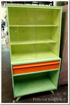 bright painted furniture | Painted Furniture in Orange, Yellow, and Green. Definitely Bright ...