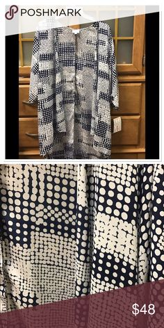 🆕 LuLaRoe small blue and white polka dot Lindsay Brand new with tags blue and white with polka dots Lindsay. More blue than appears in picture. LuLaRoe Tops