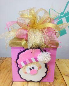 Pink Christmas Ornaments, Christmas Crafts, Christmas Decorations, Diy Xmas Gifts, Diy Gift Box, Foam Crafts, Diy And Crafts, Crafts For Kids, Creative Gift Wrapping