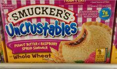 Smucker's Uncrustables Peanut Butter & Raspberry Spread