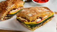 This sandwich turns take-along food flaws—travel time, cramped packing quarters, moist ingredients—into assets.