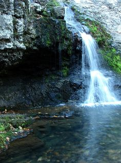 The Grotto in Hot Springs National Park, #Arkansas #waterfall #park #vacation #scenic #mountain #South