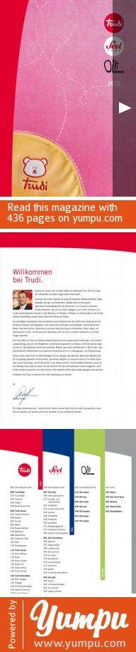Trudi Katalog 2010 - Magazine with 436 pages: