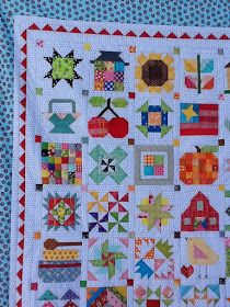 One more finish before 2015 ends, well not a complete finish, but the top at least of my Farm Girl Vintage Sampler. I joined Lori Holt f...