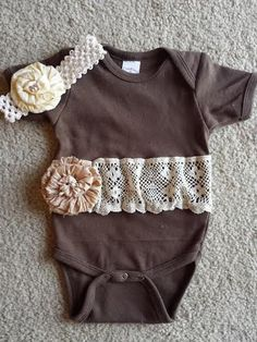 Embellished Country Chic Lace Onsie with by EmbellishedByArie, $9.99