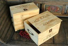 Hey, I found this really awesome Etsy listing at https://www.etsy.com/listing/160737975/personalized-wooden-wine-crate-storage