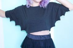 "cute-etsy: "" Bat Crop Top $36.00 """