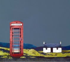 Ron Old Phonebox, Barra_Image Size Contemporary Scottish Art Watercolor Landscape, Landscape Art, Landscape Paintings, Outer Hebrides, Scottish Highlands, Dundee, Contemporary Landscape, Adventure Is Out There, Artist At Work