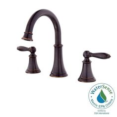 Pfister Courant 8 in. Widespread 2-Handle Bathroom Faucet in Tuscan Bronze-LF-049-COYY - The Home Depot