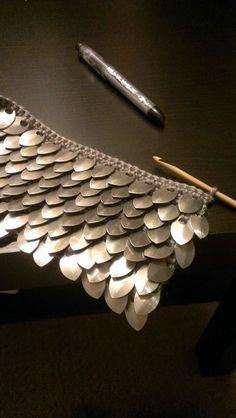Crochet Scale Mail Baby Vest | theshreddedwheat