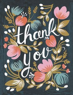 Rifle Paper Midnight Garden Thank You Card, Set of 8 Thank You Notes, Thank You Cards, Thank You Greetings, Midnight Garden, Midnight Blue, Illustration, Art Graphique, Wedding Thank You, Wedding Card
