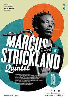 Marcus Strickland Quintet concert jazz poster