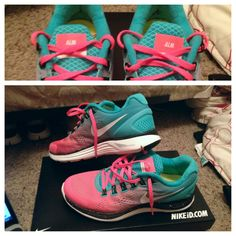 Nike Women's LunarGlide+ 4 iD Just saw these Friday. I WANT THEM ALL! Surely I'd be more inspired to start running again if I had super cute shoes to run IN right?? Awesome pair for #womens #Sneakers $48 at #womens2014 com
