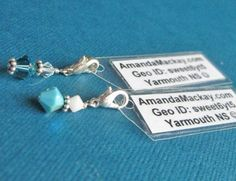 Geocaching Swag Charms - I can do this and have all the materials on hand!