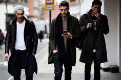 London Men's Fashion Week Fall 2015 Street Style; January 2015