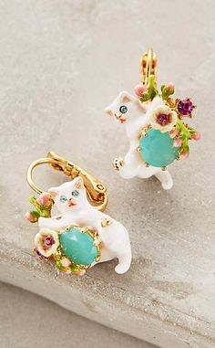 Le Chat Blanc Earrings #anthrofave