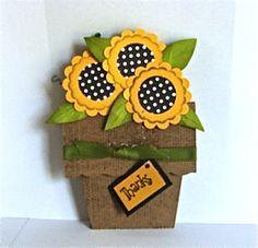 My Buttons n'Bows: Flower Pot Card Tutorial