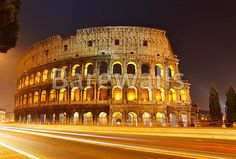 """The Colosseum at night, Rome, Italy"" - Rome posters and prints available at Barewalls.com"