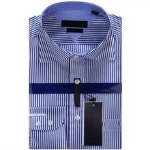 Hombre a rayas de manga larga Casual de negocios de la marca del vestido Marcas  Camisa Masculina camisas masculinas sociales hombre Camisa a rayas 37fc7a081c2