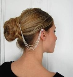 chain hair comb and ear cuff by theriveriseverywhere