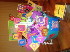 Best Teacher From A to Z! A great way to say thanks to teachers. Each parent buys one or two gifts that begin with a letter of the alphabet covering A to Z! Place a letter card on each corresponding item and place them in a bucket or basket!