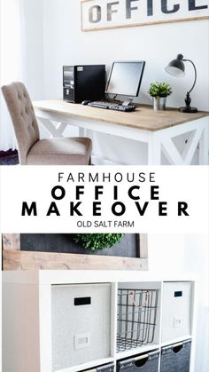 Farmhouse Family Rooms, Farmhouse Office, Modern Farmhouse, Farmhouse Style Decorating, Decorating On A Budget, Farmhouse Decor, Office Decor, Home Office, Office Ideas