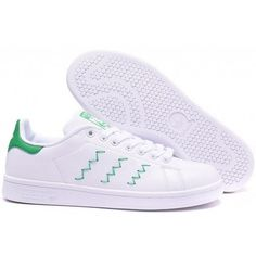 Adidas Originals Stan Smith W Zigzag White Green Classic