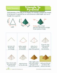 Make a mighty #pyramid in just a few steps! #howtodraw #kids