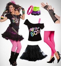 Discover an incredible selection of costumes for women at party city. get the latest female costume looks from tv and film, halloween classics, 80s Theme Party Outfits, 80s Party Costumes, 80s Halloween Costumes, Girl Costumes, Costumes For Women, Easy 80s Costume, 80s Girl Costume, 80s Prom Dress Costume, Eighties Costume
