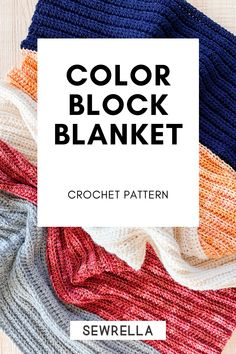 Free pattern for a crochet color block blanket, a dynamic heirloom style blanket with easy construction, a video tutorial, and 12 sizes! Crochet Blocks, Afghan Crochet Patterns, Knitting Patterns, Crochet Afghans, Crochet Stitches, Crochet For Kids, Free Crochet, Beginner Crochet, Crochet Ideas