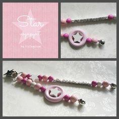 LykkeLiten STAR vognpynt rosa
