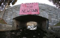 On a bridge in Newtown, Conn. 1 day after 20 children and 6 adults were gunned down by Adam Lanza.