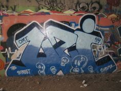 awesome solid tangled blue graf