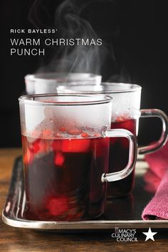 Get in the holiday spirit with the bold crimson hues of Chef Rick Bayless' Warm Christmas Punch. Visit macys.com/CulinaryCouncil for the full recipe and more seasonal drinks.