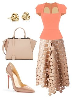 style theory by Helia by heliaamado on Polyvore featuring мода, Roland Mouret, Marni, Christian Louboutin, Fendi and Blue Nile