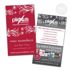 Fancy Plexus Business Cards