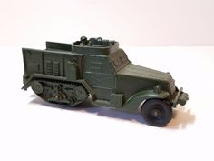 Vtg Auburn 1960s Army Military Half Track Halftrack Armored Truck Tank Rubber #Auburn